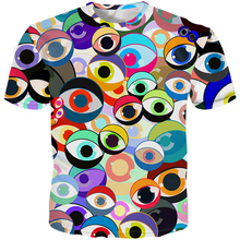 YFFUSHI 2019 New Male 3d Tshirts Print T Shirts Men Cartoon Eyeball shirt Summer Tops Tees Casual Streetwear 5XL