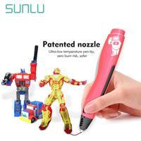 Sunlu 3D Lage Temperatuur Pen Voor Kinderen Scribble En Verkennen Creatieve Ondersteuning Pcl Filament 1.75Mm Als Beste Cadeau
