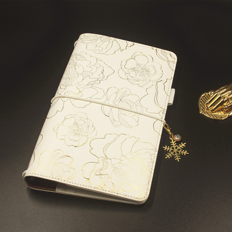 Lovedoki 2019 Traveler's Notebook Standard Size Hot Stamping Cover Personal Diary Planner Gift Stationery Store School Supplies