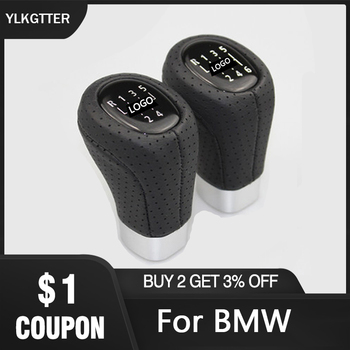 Durable ABS Plastic with PU Leather 5/6 Speed Car Gear Shift Knob For BMW 3 5 6 E 36 39 Breathable Perspiration Soft Touch Feel image