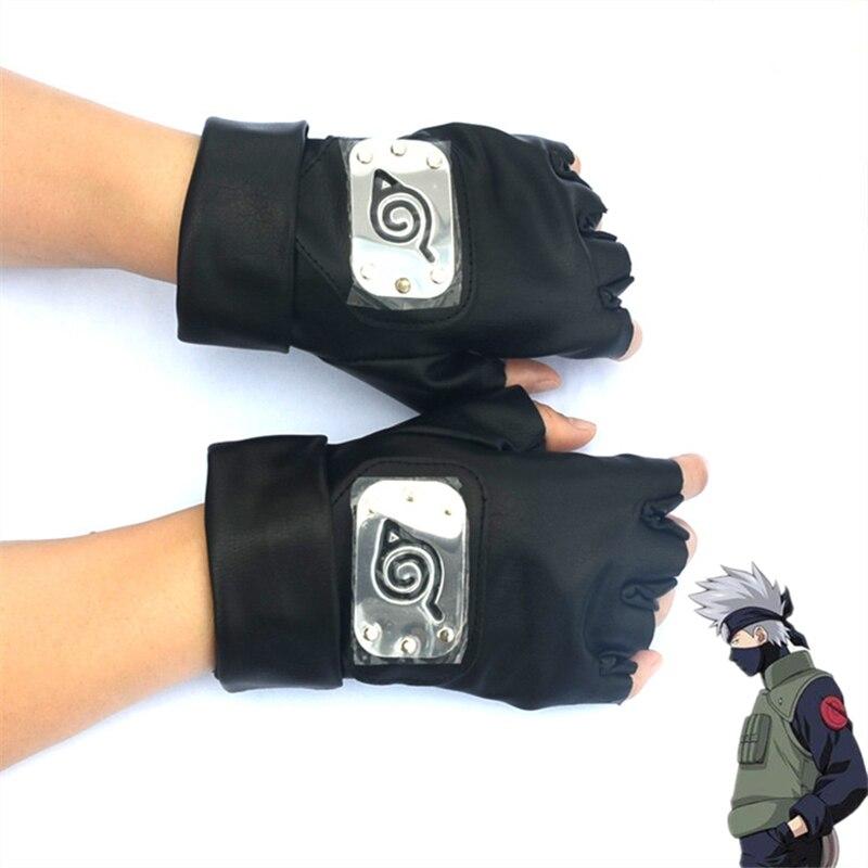 Anime Gloves Cosplay Hatake Kakashi  Half-finger Gloves Anime Props Toys