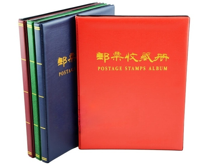 Postage Stamps Album 20 pages 500 units handmade Stamp Collecting Book Collecting 12 inch HUG-Deals