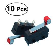 WINOMO 10pcs/Pack Practical Micro Switches 250V 5A SPDT 1NO 1NC Momentary Hinge Roller Lever Micro Switches 3 Pins