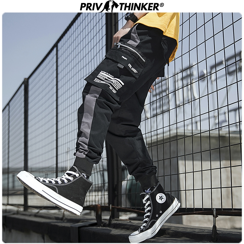 Privathinker Men Spring Street-style Loose 2020 Ankle-length Cargo Pants Mens Casual Joggers Male Harem Pants Fashions Oversize