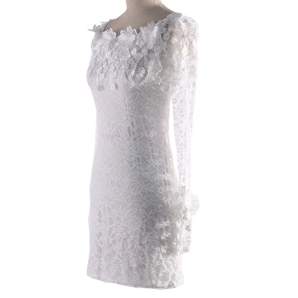 Fashion dresses New Year s dress Women Sexy Lace Solid Slash Neck Off