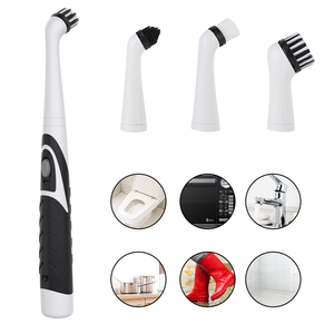 4 In 1 Electric Scrubber Cleaning Brush With 4 Different Brush Heads Waterproof Household Sonic Brush For Bathroom Kitchen