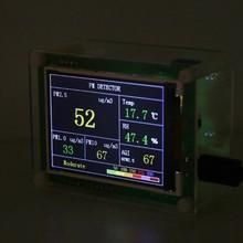 Pm2.5 carro detector testador medidor de qualidade do ar pm1.0 pm10 monitor lcd casa gás termômetro temperatura umidade medidor