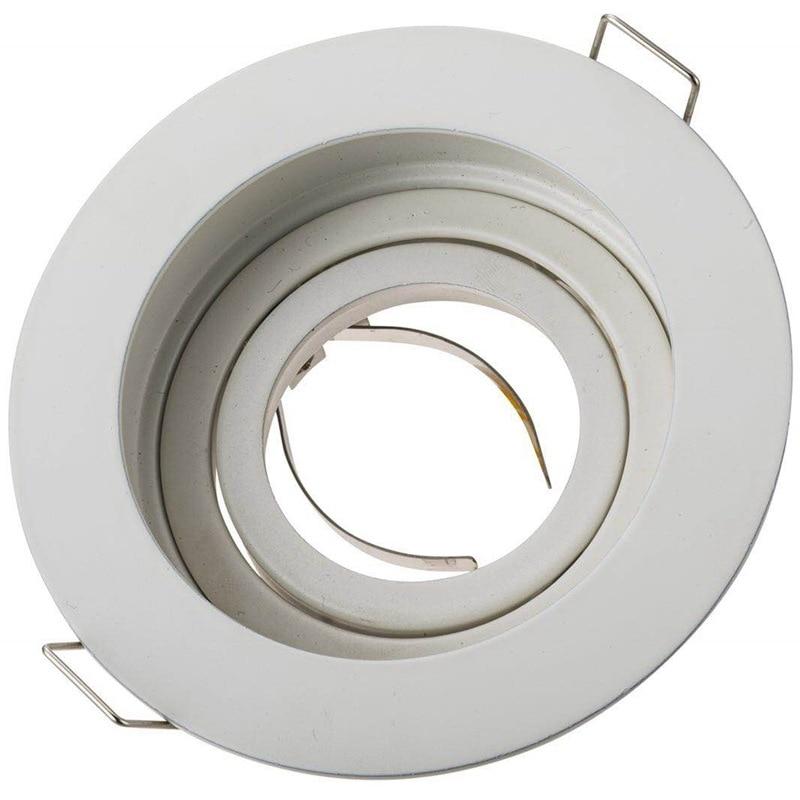 Circle Adjustable MR16 Holder GU10 Lamp Bracket LED Shot Cup Noodles Ring Outside Diameter 100mm Hole 90 Mm White