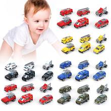 цена на 6Pcs Baby Car Model Toy 1/60 Scale Diecast Engineering Vehicle Car Models Educational Kids Toy