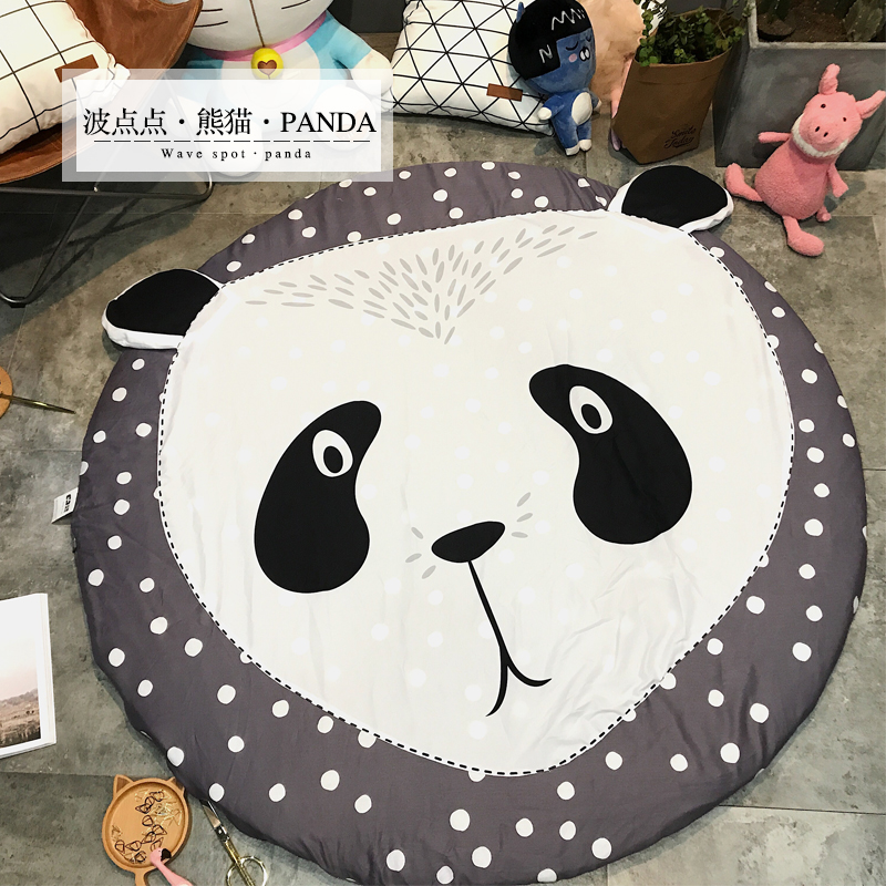 150X150cm Wide Soft Hand Woven Round Carpets Living Room Bedroom Cotton Rugs Home Carpet Floor Door Mat Decorate Home Area Rug - 5
