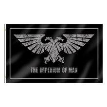 Venda quente 3x5ft banners dropshipping ao ar livre haning decoração de festa em casa o imperium do homem bandeira