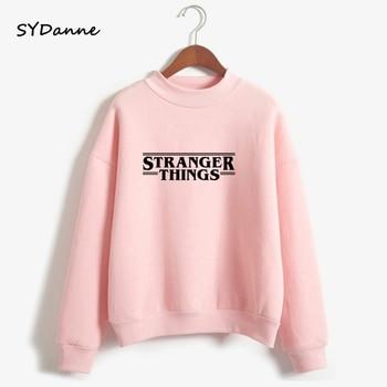 SYDanne Hoodies Stranger Things Women Hoodie Fleece Harajuku Sweatshirts Autumn Winter Hip Hop Letters Print Sweatshirt