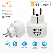 Timethinker Smart Wifi Socket In Electrical Plug Home Work With Apple Homekit US EU for USA Alexa Google