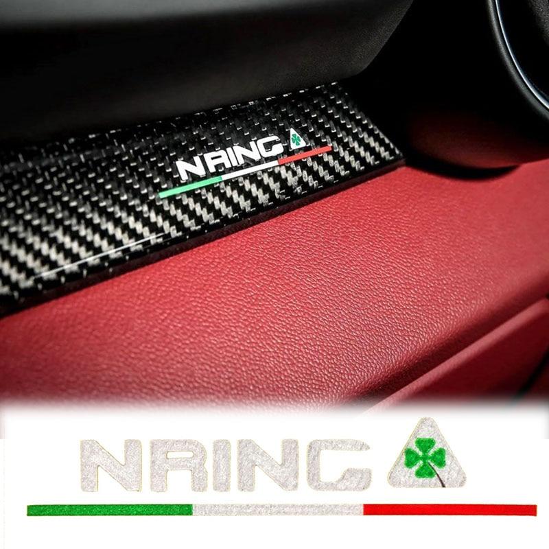 Эмблема для Alfa Romeo nring, ограниченная серия, 2 шт., наклейки на окна для Alfa Romeo Giulia Giulietta 159 156 MITO Stelvio 147 GT