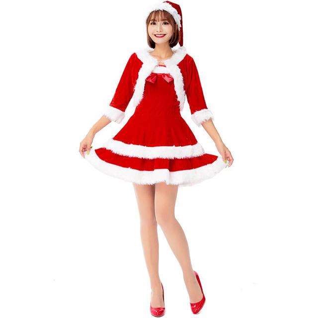 Women's Christmas Dress with Hood
