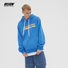 купить VIISHOW Brand 2019 autumn mens cotton Hoodies men Sweatshirt Hoodies blue Long sleeves Casual print Hoodie male WD2606193 по цене 3321.69 рублей