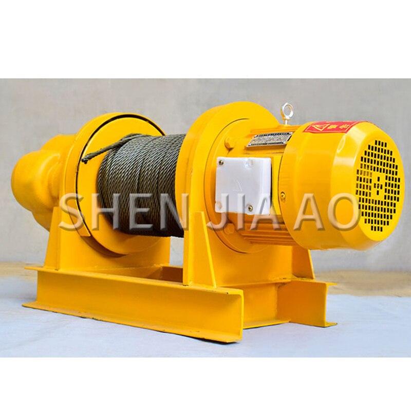 380V 1T Heavy Construction Winch Machine Small Crane For Dock Construction Site 30M Electric Hoist Crane Winch Pure Copper Motor