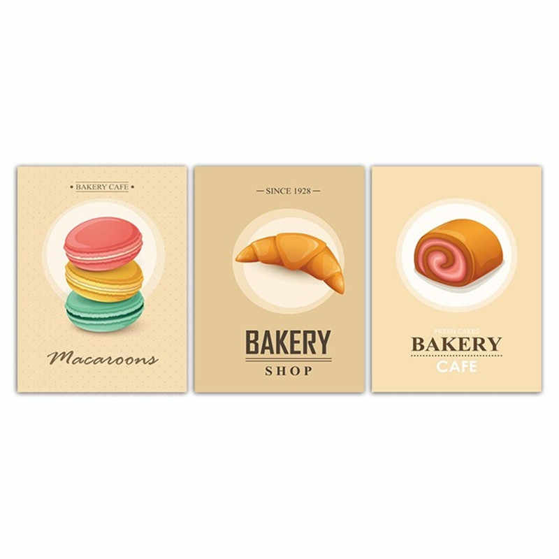 Nordic Style Poster Macaroon Bakery Cake For Modern Top-Rated Canvas Print Decorative Bedroom Living Room Home Wall Art Decor