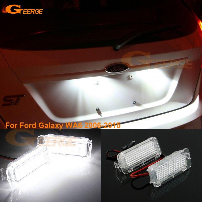 Para ford galaxy wa6 2006-2015 excelente ultra brilhante smd conduziu a luz da lâmpada da placa de licença nenhum erro obc acessórios do carro