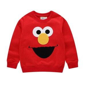 Image 3 - Autumn Winter Cartoon Elmo Printed Cotton Sets Baby Boys Clothing Sets Boys Girls Outfit Long Sleeve Shirt Pant