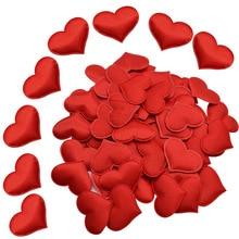Wedding Confetti Petals Table-Bed Satin Valentine-Decoration Fabric DIY 100pcs Sponge