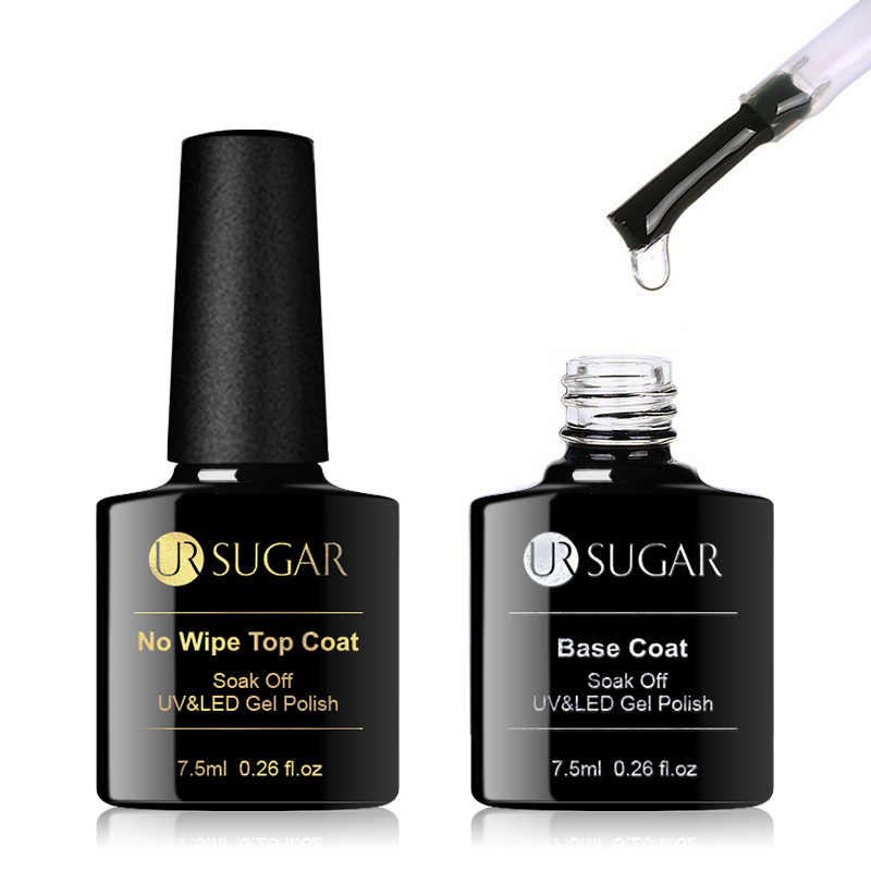 Ur Suiker 7.5Ml Geen Veeg Base Top Coat Kleur Gel Nagellak Matte Uv Top Coat Uv Led Soak off Nail Art Gel Lak Vernis