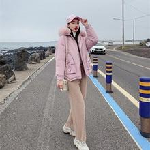 Winter Jacket Women 2019 Faux Fur Parkas Women Plus Size Womens Thicken Outerwear Hooded Coats Female Cotton Padded Clothing