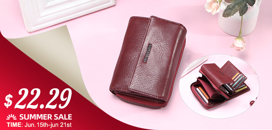 HOT SALE 2020 Coin Bag Zipper Wallet Women Genuine Leather Wallets Purse Fashion Short Purse With Credit Card Holder Hasp Design
