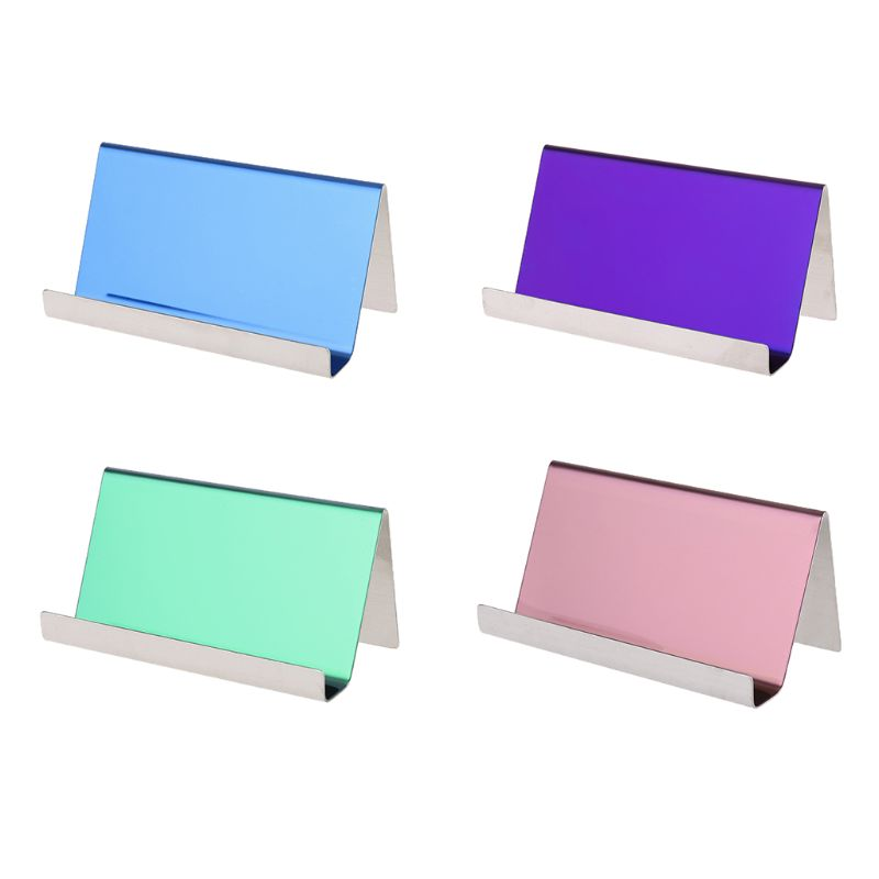 Stainless Steel Business Name Card Holder Display Stand Rack Table Organizers