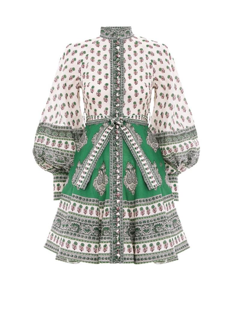 Europe mode coton et lin robe femmes 2019 nouveau automne dames robe tempérament à manches longues décontracté femmes vêtements - 6