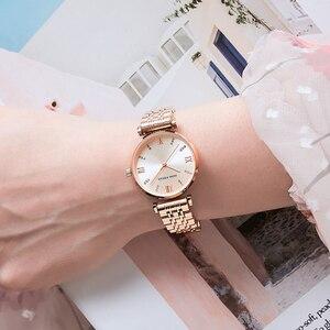 Image 5 - MINI FOCUS Women Watches Top Brand Luxury Fashion Ladies Watch 30m Waterproof Rose Gold Stainless Steel Reloj Mujer Montre Femme