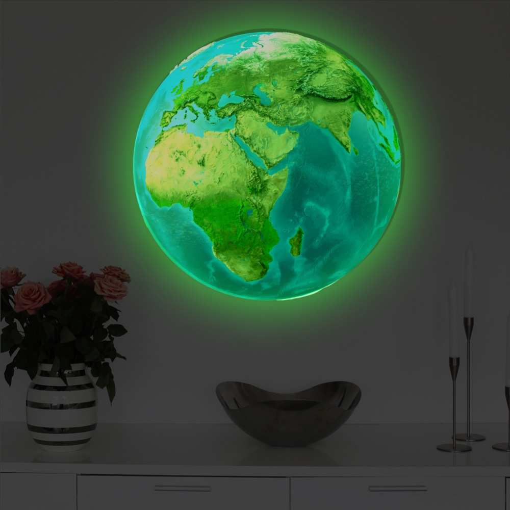 New-20cm-3D-Wall-Stickers-for-Kids-Room-Luminous-Moon-Star-Earth-living-room-decoration-Glow(4)