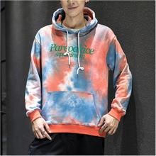 Camo Hoodies Men Fashion Tie Dye Casual Cotton Hoodie Men Hooded Sweatshirt Man Streetwear Loose Hip Hop Pullover Hoody M-5XL