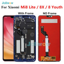 LCDต้นฉบับสำหรับXiaomi Mi8 LiteจอแสดงผลLCD Touch Screen Digitizer AssemblyสำหรับXiaomi Mi8 Lite LCDเยาวชน 8X Mi 8 Lite LCD