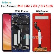 オリジナルxiaomi Mi8 lite lcdディスプレイタッチスクリーンデジタイザxiaomi Mi8 lite液晶ユース 8X mi 8 lite液晶