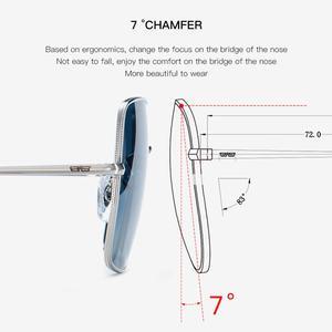 Image 5 - CAPONI Fashion Square Polarized Sunglasses Women 2020 New Brand Design Metal Frame Big Sun Glasses Gradient Lenes Oculos CP1971