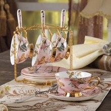 Европейский ретро костяной фарфор кофейный набор английский послеобеденный чайный набор керамический чайник/сахарница/молочник/кофейная чашка кружка набор посуды