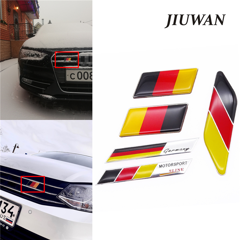 Universal Car Sticker German Flag Emblem Badge Emblem Deutsch Bumper Front Decoration Grille Auto Decal For Benz VW Audi Golf
