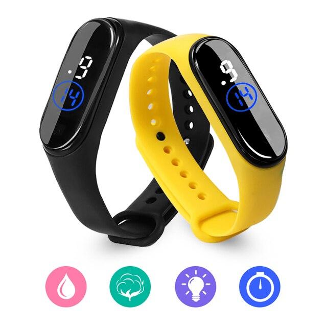 50M Waterproof Women's Watch LED Fashion Sport Watch Womens Wristwatches Silicone Wristwatches Touch Screen Digital Watch Accessories Jewellery & Watches