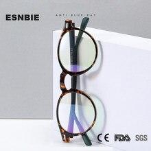 Tr90 óculos de luz azul quadro feminino redondo anti raios azuis óculos de computador vintage masculino filtro azul bloqueando eyewear