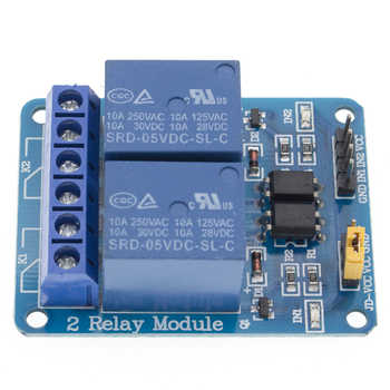 50pcs 2-channel New 2 channel relay module relay expansion board 5V low level triggered 2-way relay module