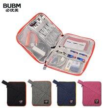 Bubm organizador de bolsa para viagem, cabo usb, fone de ouvido, caneta, kit de viagem banco de energia, caso