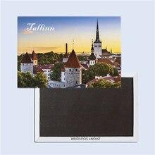 Tallinn city View, Estonia tourist souvenirs,  magnetic fridge magnets, Creative refrigerator Travel souvenirs Gifts for friends terhi pääskylä malmström minu tallinn kalevitüdruku kroonika
