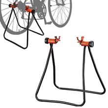 Parking Rack Mechanic Floor Display Bicycle Foldable Maintenance Holding Rings Bike Holder Repair Stand Adjustable Height bmdt bicycle wheel bicycle wheel truing stand maintenance mechanic at home truing stand support bicyle repair tool 36 x 28 x 4