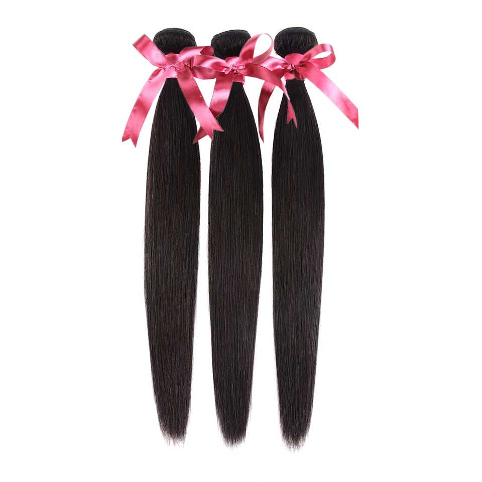 Karizma Brazilian Straight Hair Bundles 3 Pcs Lot Natural Black Color 8-40inch Non Remy Human Hair Bundles Can Be Dyed Free Ship