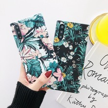 цена на Fashion Flower Luminous Case For Samsung Galaxy S20 Plus S20 Ultra Note 10 Plus 9 8 S10 S9 S8 Plus Ink Printing Hard Cover Case