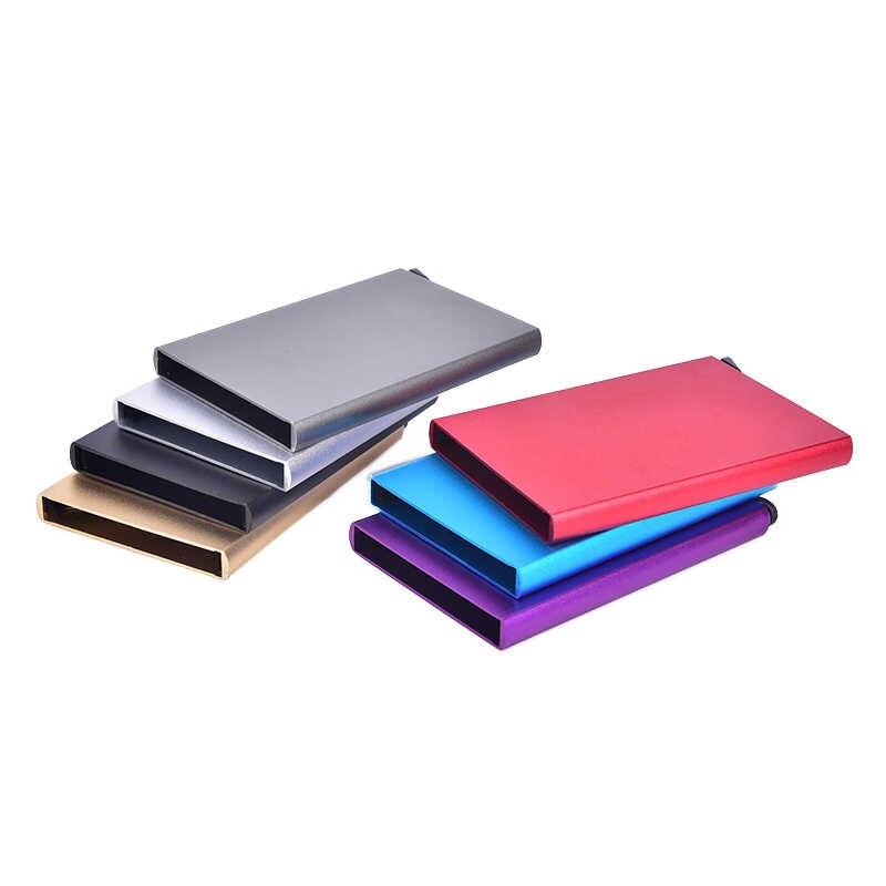 Multicolor Tas Metalen Vrouwen Mannen Visitekaarthouder Creative Aluminium Houder Metalen Doos Mannen Credit Business Card Case Portemonnee