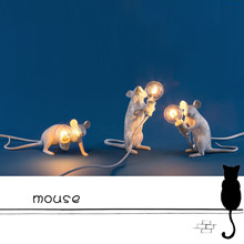 Nordic Creative Mini Animal Mouse Table Lamp Living Room Dining Room Bedroom Clothing Store Art Resin Desk Light nordic style art table light personality creative dining room studio bedroom bar decoration light free shipping