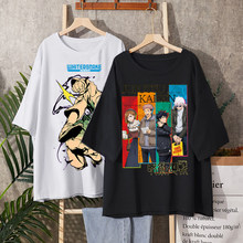 Vintage anime cartoon Harajuku hip hop t hemd frauen kleidung gothic t-shirt streetwear print verlieren tops sommer schwarz t-shir