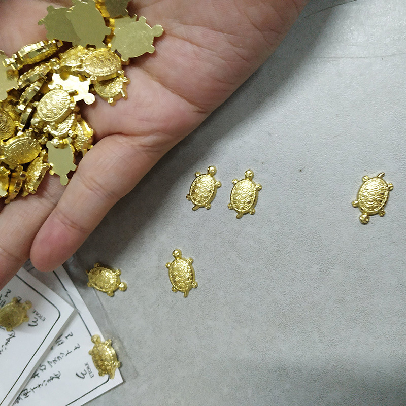 Cute Small Ornaments Money Turtle Shallow Water Pond Jewelry Temple Lucky Gold Turtle Goods House Decoration Trinkets